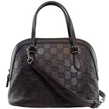 NWT Gucci 341504 GG Guccissima Convertible Mini Dome Leather Crossbody Bag,