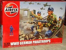 AIRFIX - WORLD WAR II GERMAN PARATROOPS  PLASTIC MODEL FIGURES KIT - 1:72