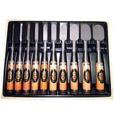 """Set of ten Japanese bench chisel """"NOMIKATSU""""  Carpenter tool NOMI"""