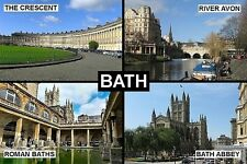 SOUVENIR FRIDGE MAGNET of BATH SOMERSET ENGLAND