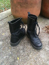 LAST CALL Emerson Fry *Vintage* Black Leather Combat Boots - Size 7 - EF Outlet