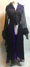 Gothic Victorian Romantic Long Jacket Purple/ Black Rp16