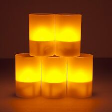 Weanas® 5PC Solar Power LED Light Yellow Tea Candles Cup Flickerin Tealights