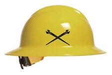 spud wrench's crossed vinyl decal,hardhat,bull pin,Ironworker,Klien Plier,sm