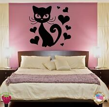 Wall Sticker Cat And Hearts Modern Decor for Yor Bedroom  z1419