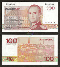 LUXEMBOURG 100 Francs, Sign 2, Grand Duke Jean, 1986, P-58b, UNC