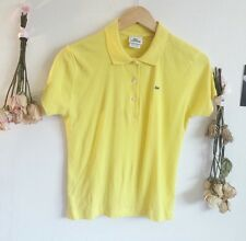 Pre Owned Lacoste Yellow Ladies Shirt Size 42
