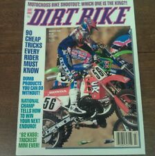 MARCH 1992 DIRT BIKE 500cc SHOOTOUT YZ RM KX CR KX 80 MOTOCROSS ACTION YZ 250