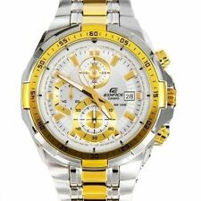 IMPORTED CASIO EDIFICE STEEL AND GOLD MEN'S CHRONO EFR-539SG-7AVUDF