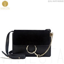 GENUINE REAL LEATHER CIRCULAR LOCK CROSSBODY BAG Women Minimal Shoulder Handbag