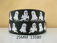 """Halloween/Ghost Ribbon 1"""" Wide 1m is only £0.99 NEW UK SELLER"""
