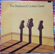 THE SHADOWS,20 GOLDEN HITS,VINTAGE LP 33,ALBUM.EXCELLENT CONDITION.