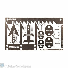 READYMAN Wilderness Survival Card Fishhooks Arrowhead Prepper Outdoors Camping