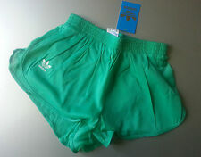adidas size L running athletic GREEN ANICE shorts shiny lightweight nylon retro