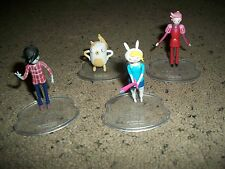 Set Of 4 Adventure Time Mini Figurines On Stands 1 Inch High