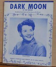 Dark Moon - 1957 sheet music - Bonnie Guitar photo on cover