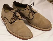 HUSH PUPPIES Retrospect Mens Size 10.5 (44) M Tan Suede Leather Dressy Oxfords