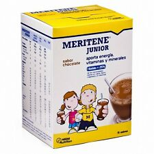 MERITENE JUNIOR CHOCOLATE 15 SOBRES    100 % ORIGINAL !!!  MENSAJERO URGENTE