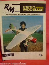 AIRCRAFT BOAT RADIO MODELLER APRIL 1975 MINI-SNARK GRAUPNER MAXI CAMBRIA CAPSTAN
