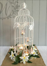 Wedding Decor Bird Cage Candle Holder Heart Vintage Glass Tealight 4 Lantern