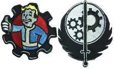 Fallout Thumbs Up Brotherhood Of Steel Set of 2pc morale HOOK Patch