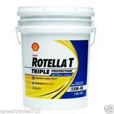 5 Gallon Pail Shell Rotella T 15W-40 Heavy Duty Diesel Oil New Free Shipping USA