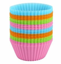 Bakerpan Silicone Cupcake Holders Liners Baking Muffin Mold Mini Cake Cup/Set 24