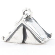 3D TENT Bracelet Charm Camping Scout Camper Pendant Solid 925 Sterling Silver