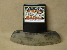 Vntg Sleeper or Tie Axe Ax Head Peavey Mfg Co Oakland Maine ME Label for RR ties