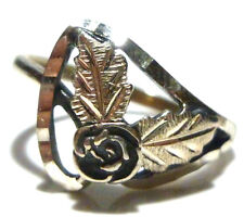 DESIGNER WM BLACK HILLS STERLING SILVER FLOWER LEAF WOMENS RING SIZE 7