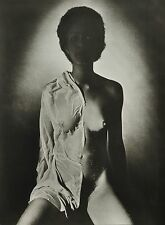 Günter Rössler 28x38cm Original 1982 Nude Silver Gelatin Photo Print Akt Shadows