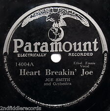 JOE SMITH-Rare Blues 78-Heart Breakin' Joe & African Rag-PARAMOUNT #14004
