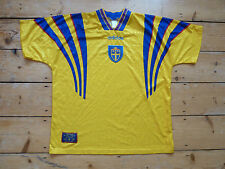 SWEDEN FOOTBALL shirt XL home 1996 SWEDISH SOCCER JERSEY maglia camiseta EURO