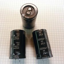 TSU 22,000uf 25v Electrolytic Snap-In (LOT OF 5) 51mm X 30mm NOS 85C 22000uf 20%