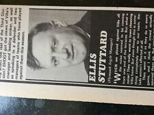 m3g ephemera 1970 football article ellis stuttard plymouth playing at the villa