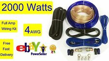 4AWG 4 AWG 4G Gauge Amplifier AMP Wiring INSTALLATION Kit High Quality Car Audio