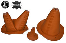 ORANGE LEATHER 3X GAITER SET FITS FORD GPW JEEP WILLYS MB