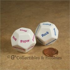 NEW D12 Paper Scissors Rock Dice Pair RPG 12 Sided Game 28mm Koplow
