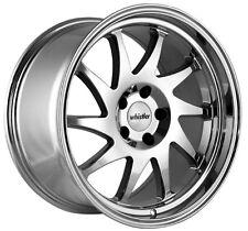 Whistler KR7 17x9 5x100 Rims +25 Chrome Wheels Fits Carrado Del So Civic Crx Fox
