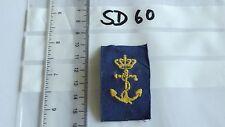 Abzeichen Dänemark Marine gelb auf blau 1 Stück (SD60-)