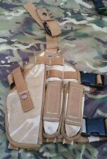 British Army DPM Desert Drop Leg Pistol Holster and Panel with Mag Pouches