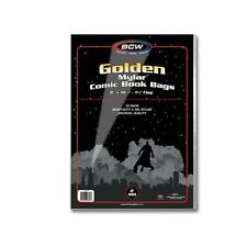 1 Pack of 50 BCW Golden Age Comic Book Mylar Storage Bags Sleeves 2 mil