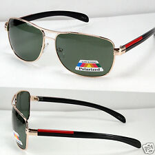 New Gold Green Mens Polarized Lens Sunglasses Sports Designer Driving Shades