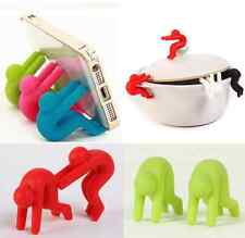 2PC Silicone Phone Holder Cooking Gadget Spill-proof Lid Kitchen Chopsticks Rest