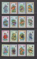 MONTSERRAT #445-460 MNH 1981 Complete Set of 16 FISH. Pretty Set! SCV $25.90