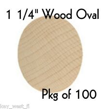 """OVAL ~ 1 1/4"""" ~ Wood Cutout Craft Shape ~ Unfinished { Lot of 100 } ~ by PLD"""