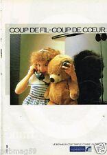 Publicité advertising 1985 France Telecom
