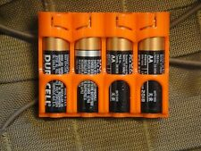Orange Holder for 4 AA Batteries fits maxpedition lbt and molle pouches edc Q07