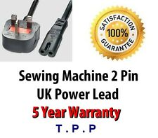 Janome UK Mains 2 PIn Power Lead Cable Cord For Memory Craft Sewing Machines