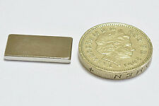 8 x super STRONG Neodymium Magnets OBLONG  20 x 10 x 2 mmThick Rare Earth NEW